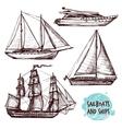 Sail Ships Set vector image