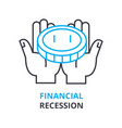 financial recession concept outline icon linear vector image
