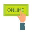 Online button vector image