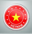 Vietnamese flag label vector image