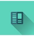 Blue newspaper icon Flat design vector image
