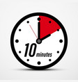 10 - ten minutes clock icon isolated vector image vector image