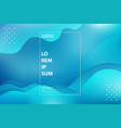 abstract gradient blue wavy tech line techno vector image