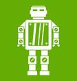 abstract robot icon green vector image vector image