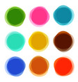 Abstract shapes set colorful circle objects