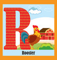 animal alphabet r vector image vector image