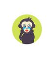 ape crying monkey vector image vector image