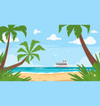 background of sea shore vector image vector image