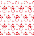 background with snowmans christmas seamless vector image vector image