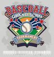 baseball grandslam tournament vector image vector image
