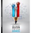 Best Business Solution Infographic Layout Template vector image vector image