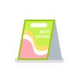 best offer outdoor indoor sidewalk sign board vector image