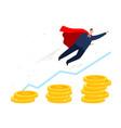 bisinessman career growth vector image