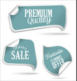 blue tags collection vector image vector image