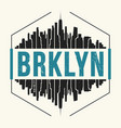 brooklyn new york graphic t-shirt design tee vector image vector image