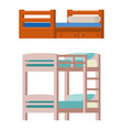 bunk bed icon interior home rest collection vector image vector image