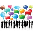 business conversations vector image vector image