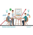 Business professional work team meeting vector image vector image