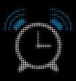 buzzer halftone icon vector image