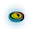 Casino gambling roulette icon comics style vector image