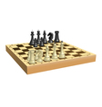 Chess on chessboard vector image vector image