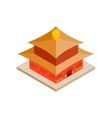 Chinese temple icon isometric 3d style vector image vector image