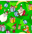 Christmas Cartoon Seamless Pattern vector image
