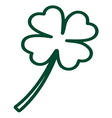 Clover line resize vector image