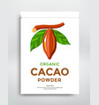 cocoa beans packaging design flat icon vector image vector image