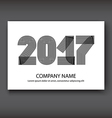 Cover Annual Report numbers 2017 modern design vector image vector image