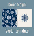 cover design with blue snowflakes pattern vector image vector image