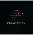 creativity thinking human brain abstract symbol vector image