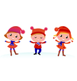 cute winter kids vector image vector image