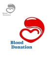 Drop of blood flowing into a heart vector image vector image