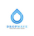 drop wave arrow logos design vector image vector image