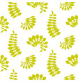 fern green leaves seamless pattern vector image