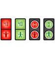 Foot traffic light vector image vector image