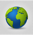 globe 3d earth world map green space planet vector image