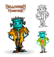Halloween monster spooky zombie EPS10 file vector image