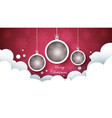 happy new year ball merry christmas vector image vector image