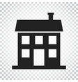 house icon in flat style on isolated background vector image vector image