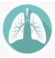 Human Lung flat icon vector image vector image