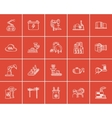 Industry sketch icon set vector image vector image