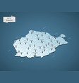 isometric 3d romania map concept vector image vector image