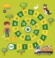 kids farm board game vector image