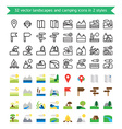 Landscapes and camping icons vector image