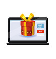 mobile online store concept laptop noteebook vector image vector image