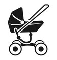 modern baby stroller icon simple style vector image vector image