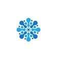 molecule symbol logo template vector image vector image