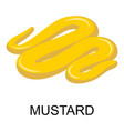 mustard icon isometric style vector image